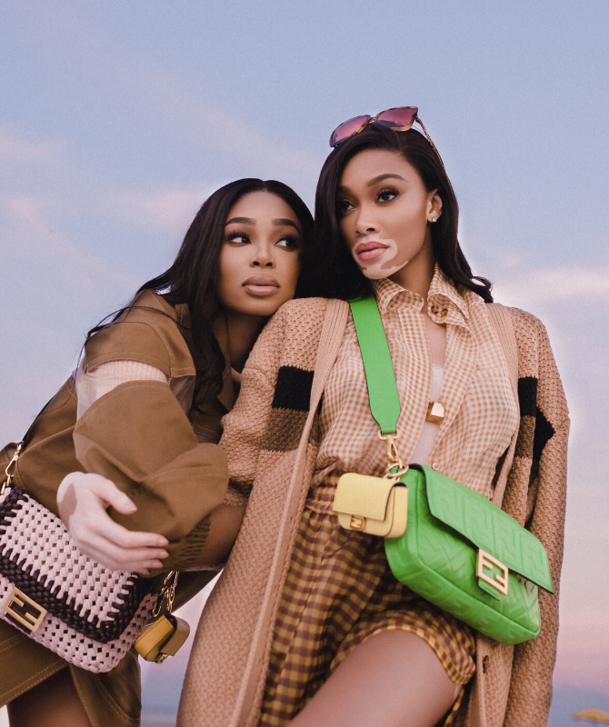 Winnie Harlow stars in the new FENDI #BaguetteFriendsForever episode with real-life BFF Shannon Hamilton (фото 1)