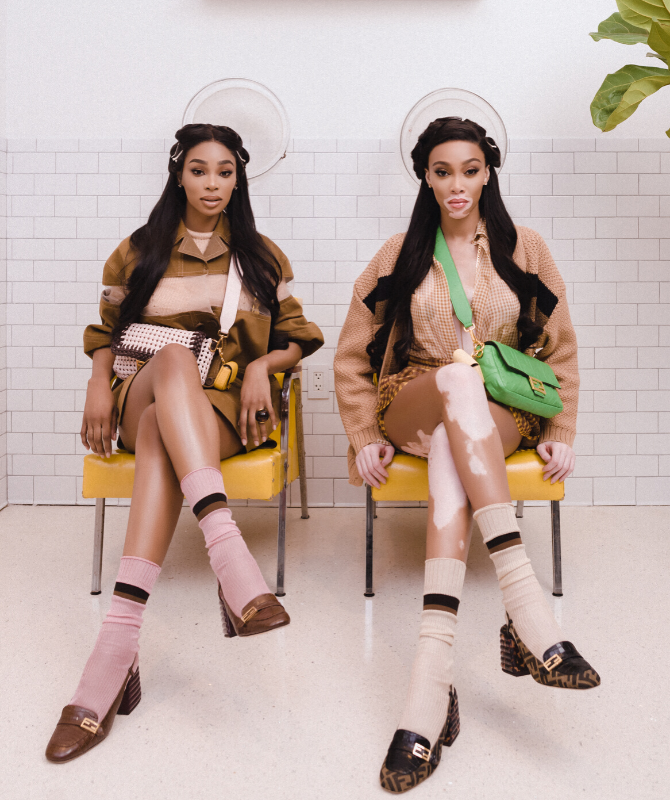 Winnie Harlow stars in the new FENDI #BaguetteFriendsForever episode with real-life BFF Shannon Hamilton (фото 2)