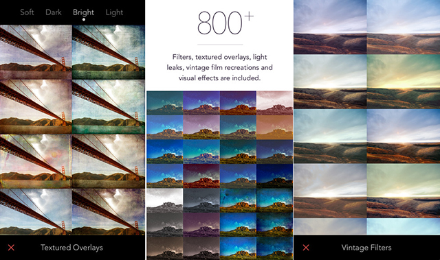 take a look at the new filters app for iphone that offers 800