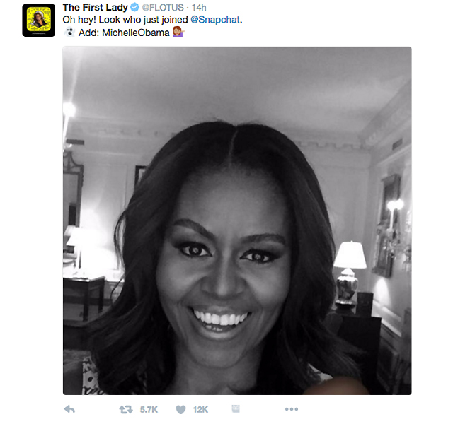The First Lady joins Snapchat (фото 1)