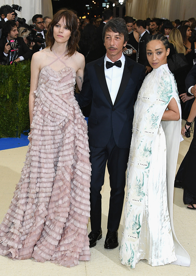 Freja Beha Erichsen, Pierpaolo Piccioli and Ruth Negga dressed in Valentino