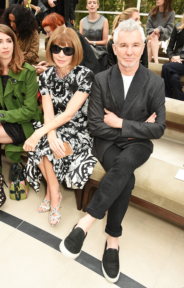 Guests at Burberry
