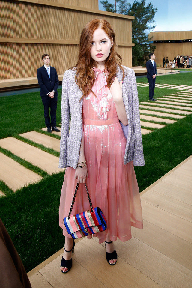 Ellie Bamber at Chanel Couture SS16 Paris
