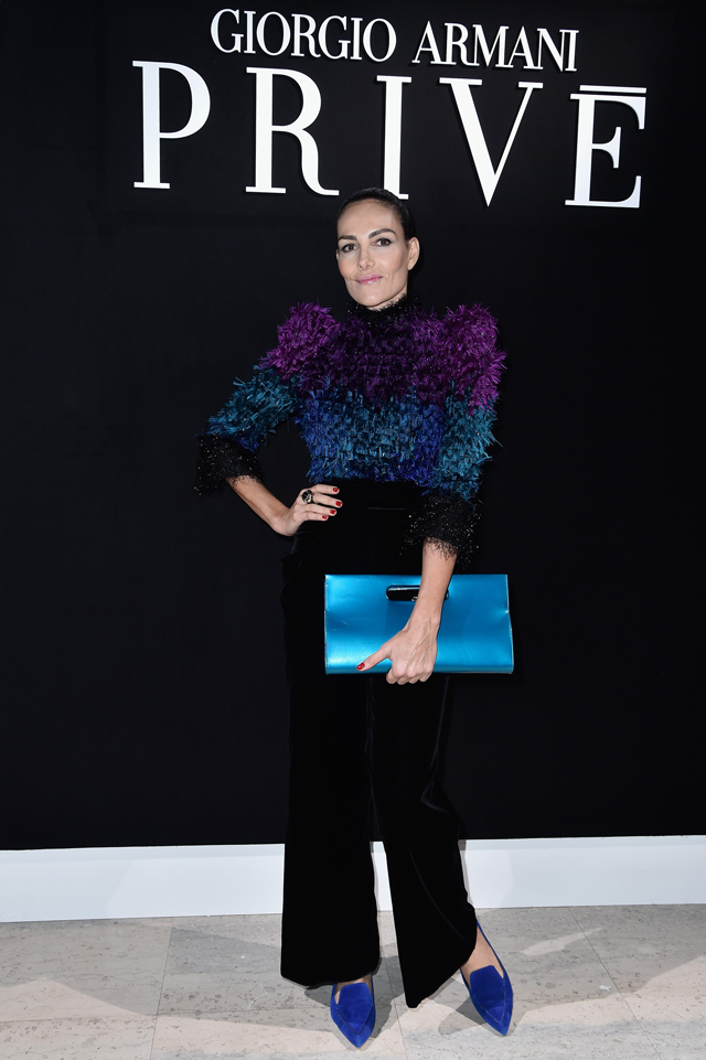 Adriana Abascal at Armani Prive SS16 Couture Paris