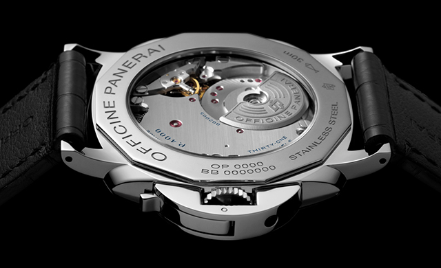 Panerai Luminor Due transparent back