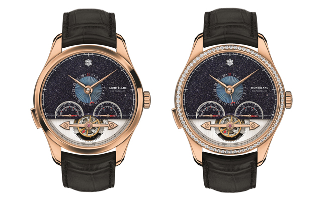 The new ExoTourbillon Minute Chronograph timepiece and its gem-set edition