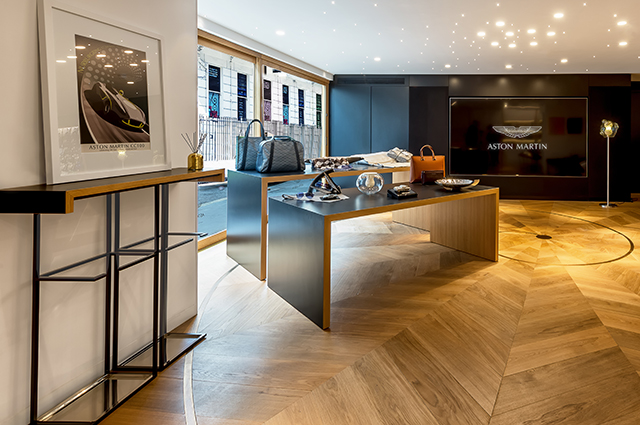 Aston Martin London boutique