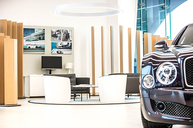 Bentley showroom in Dubai