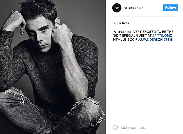 Confirmed: J.W.Anderson is Pitti Uomo's special guest (фото 1)