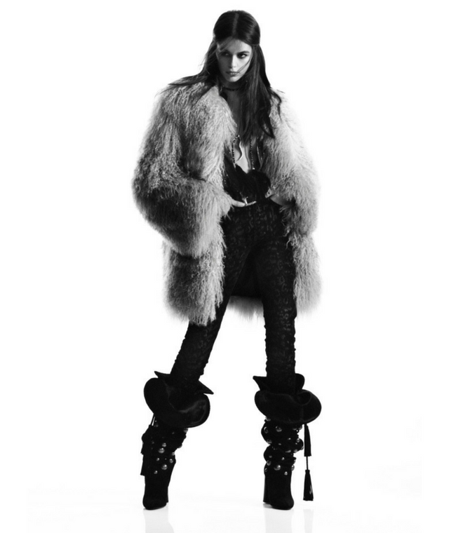 Kaia Gerber for Saint Laurent