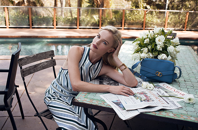 Kate Bosworth takes on Tory Burch's Gemini Link (фото 1)