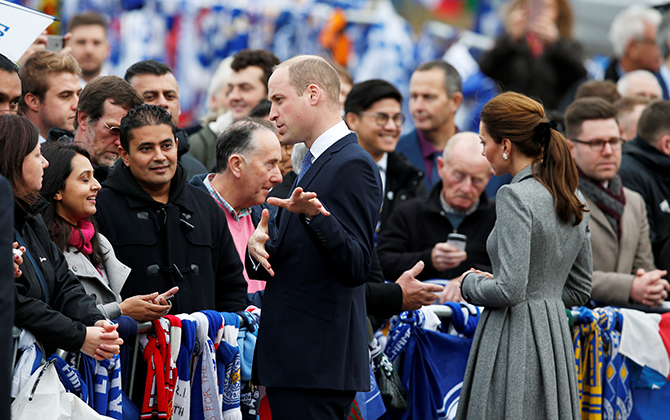 Prince William and Kate Middleton visited Leicester on an official visit yesterday (фото 2)