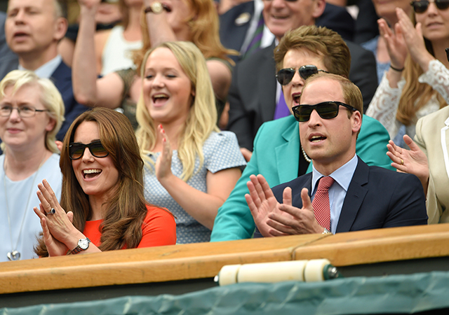 Kate Middleton and Prince William attend Wimbledon 2015