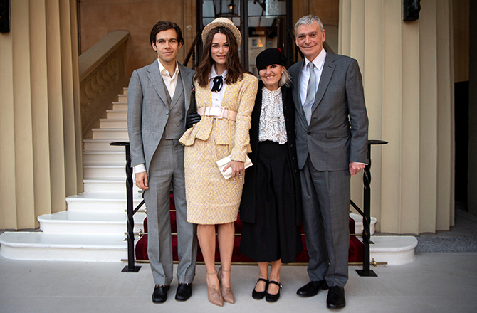 James Righton, Keira Knightley, Sharman Knightley and Kevin William Knightley