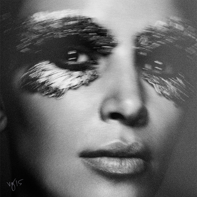 Kim Kardashian channels Elizabeth Taylor for Violet Grey