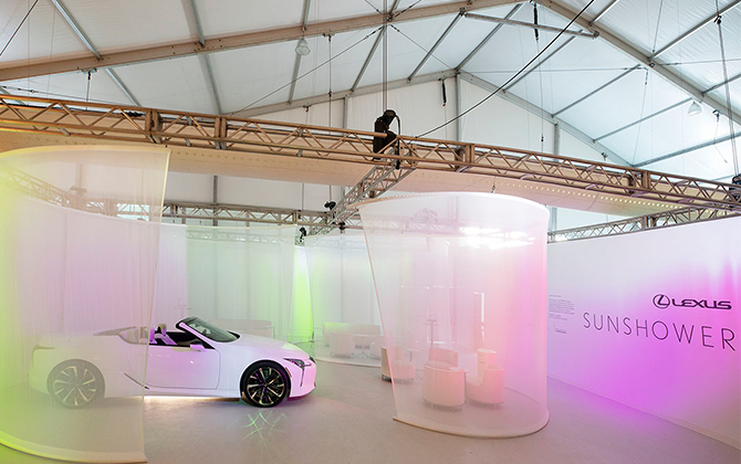 Design Miami's official automative partner Lexus debuts custom installation (фото 4)