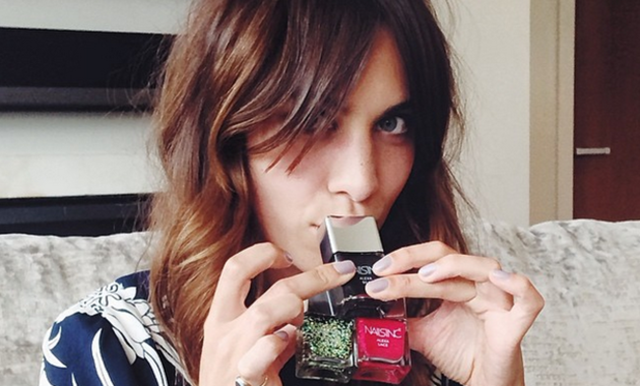 Alexa Chung Has A New Gig As The Face Of Nails Inc