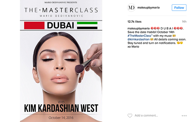 Middle East exclusive: Makeup masterclass by Mario Dedivanovic