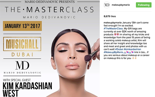 Mario Dedivanovic confirms makeup masterclass in the Middle East (фото 1)