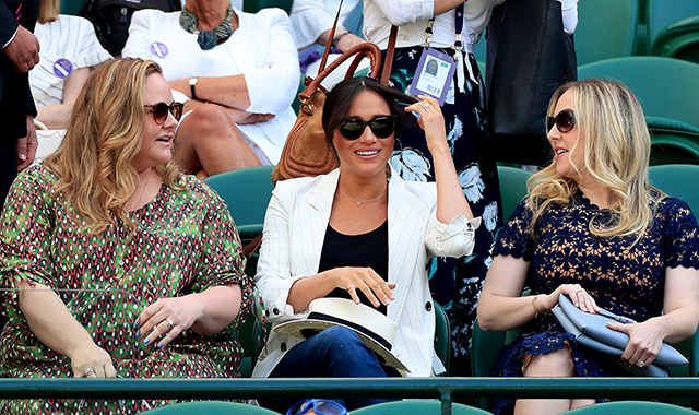 The Duchess of Sussex made a rare outing at Wimbledon to support Serena Williams (фото 1)