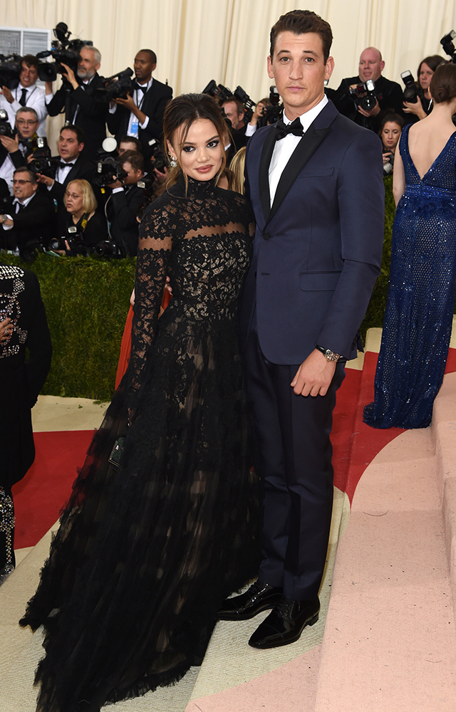 Keleigh Sperry with Miles Teller in Valentino