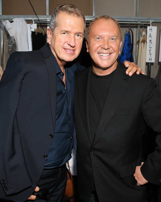 Mario Testino and Michael Kors