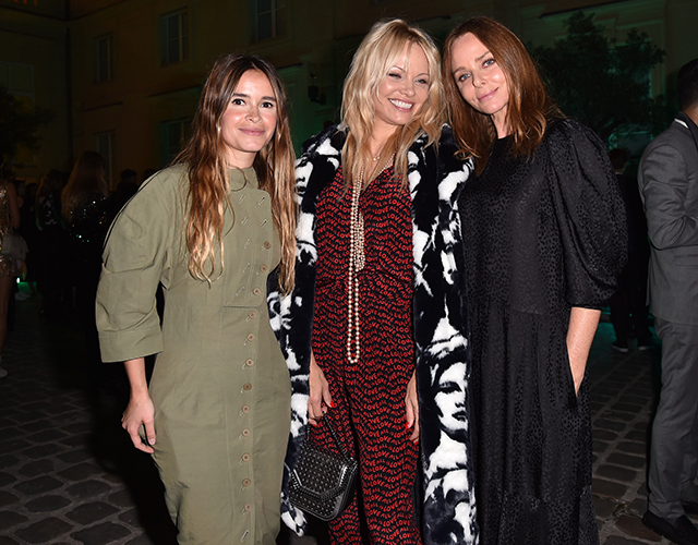Mira Duma, Pamela Anderson and Stella McCartney