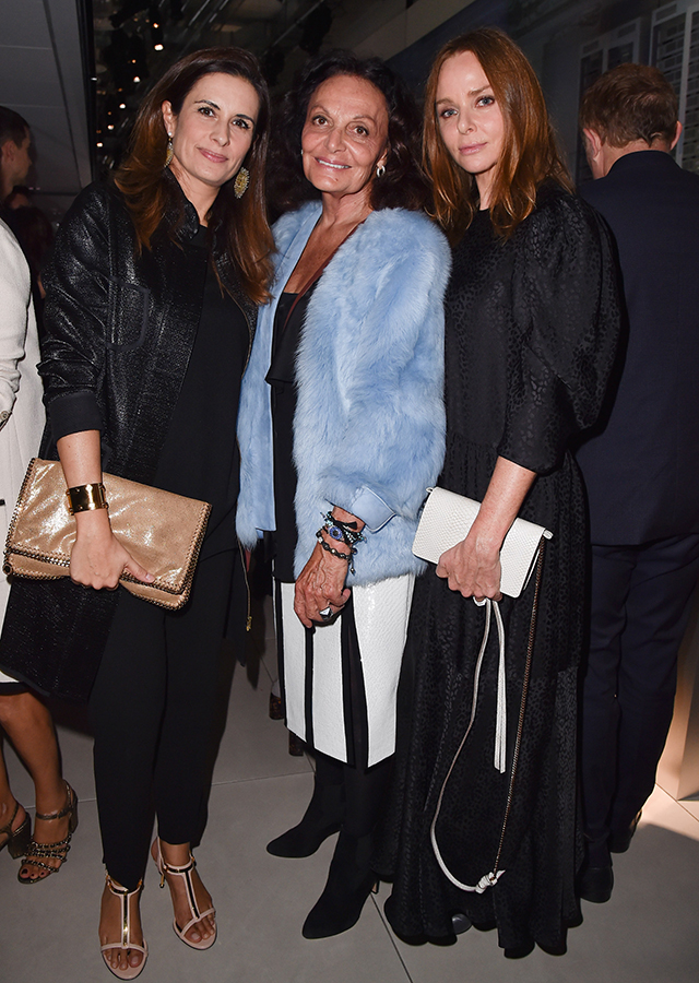 Livia Firth, Diane Von Furstenberg and Stella McCartney