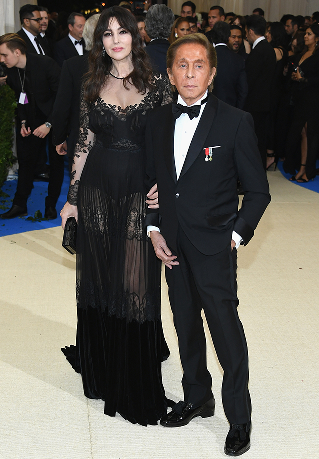 Monica Bellucci and Valentino Garavani dressed in Valentino