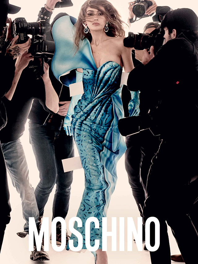 Gigi and Bella Hadid front Moschino's new ad campaign (фото 4)