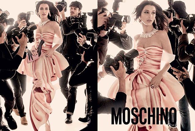 Gigi and Bella Hadid front Moschino's new ad campaign (фото 1)