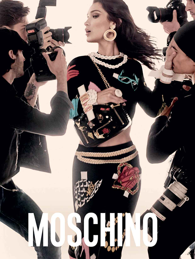 Gigi and Bella Hadid front Moschino's new ad campaign (фото 2)
