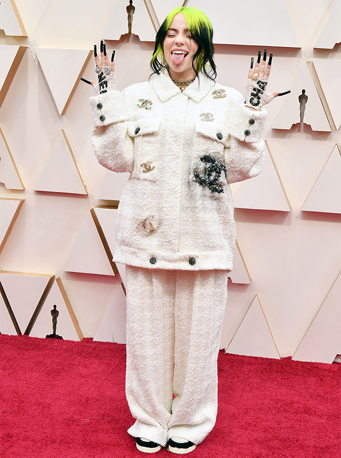 Billie Eilish in custom Chanel