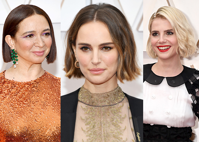 Bright lips, short bobs and nail art reigned supreme on the Oscars 2020 red carpet (фото 2)