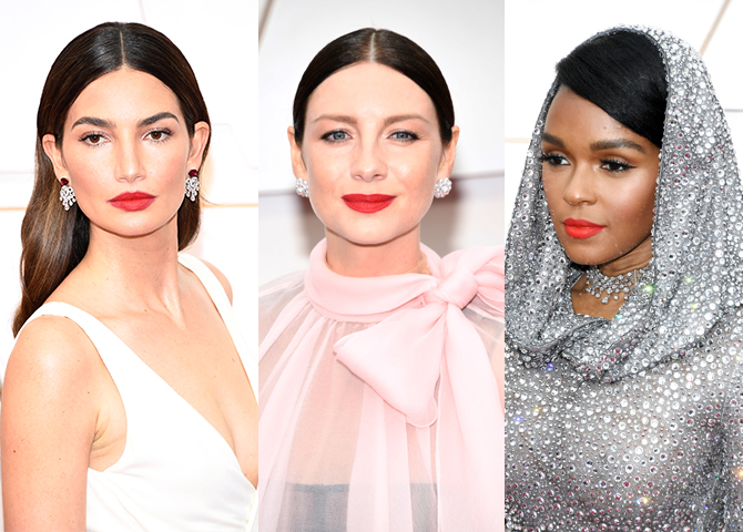 Bright lips, short bobs and nail art reigned supreme on the Oscars 2020 red carpet (фото 1)