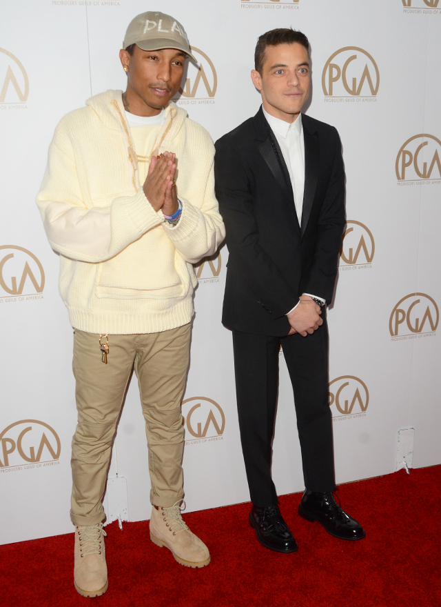 Pharrell Williams and Rami Malek