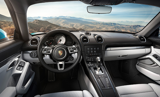 Interior of the 718 Cayman
