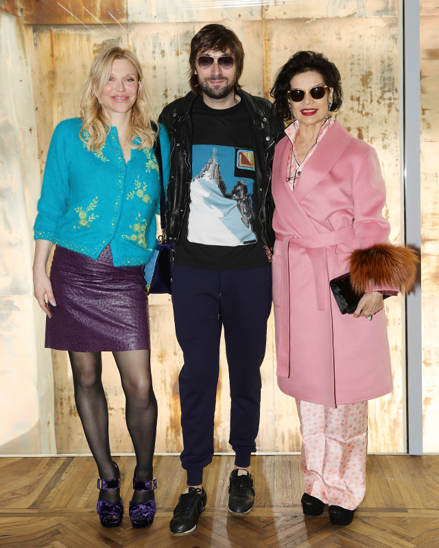 Courtney Love, Francesco Vezzoli and Bianca Jagger