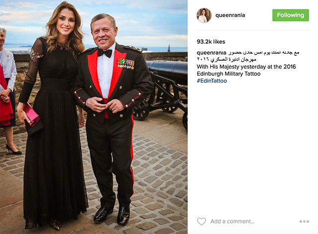 Spotted: Queen Rania attends the 2016 Royal Edinburgh Military Tattoo (фото 1)