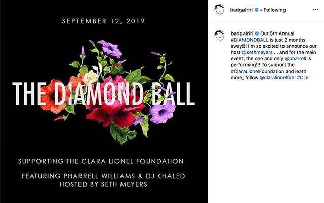Here's what we know about Rihanna's 2019 Diamond Ball (фото 1)