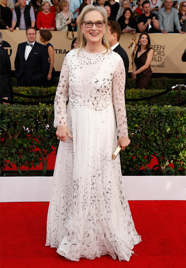 Meryl Streep dressed in Valentino
