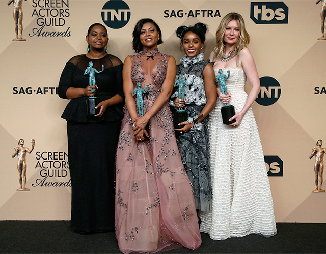 "Octavia Spencer, Taraji P. Henson, Janelle Monae and Kirsten Dunst, Outstanding Performance by a Cast in a Motion Picture for their work in ""Hidden Figures"""