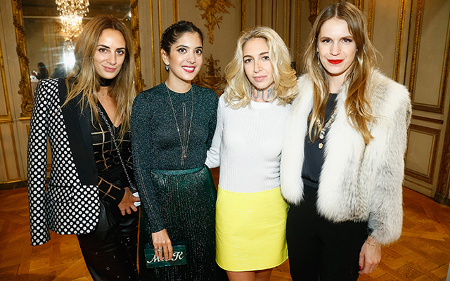 Alexia Niedzielski, Noor Fares, Sabine Getty and Eugenie Niarchos