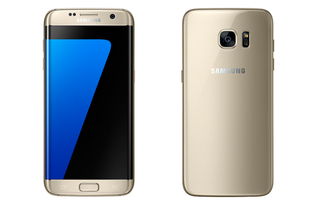 Samsung Galaxy S7 edge in gold