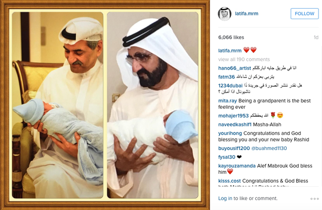 Sheikh Mohammed welcomes a royal grandson | Buro 24/7