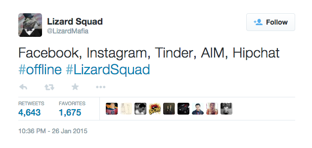 Lizard Squad claims responsibility for today's Instagram and Facebook blackout