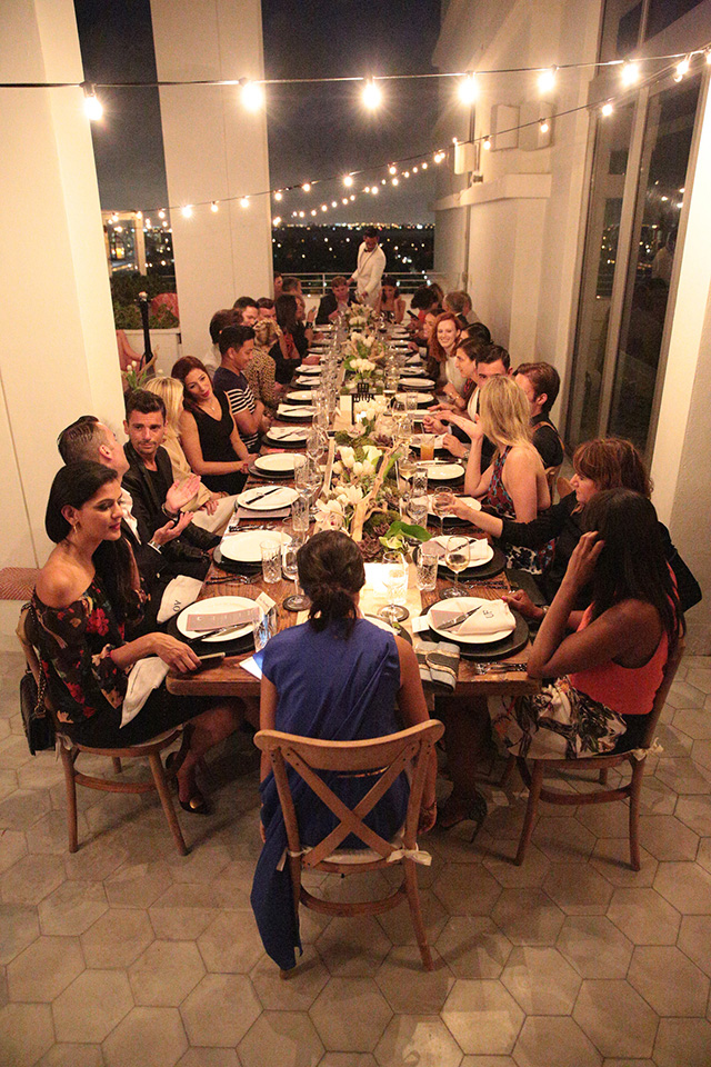 Level Shoe District hosts chic dinner with Footwear News at Soho Beach House Miami