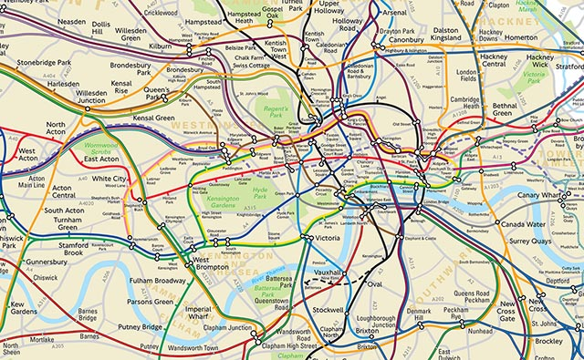 going underground tfl release london tube map showing the real distance between stations