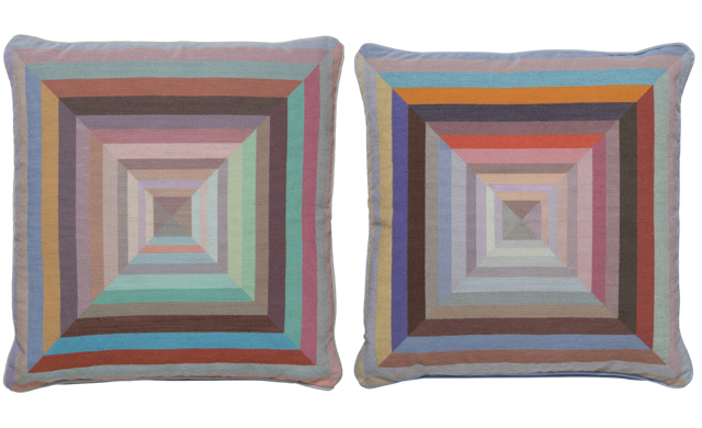 The rug company x paul smith an artistic british collaboration the rug company x paul smith striped and multi coloured cushion covers sisterspd