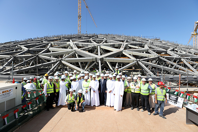 The louvre abu dhabi 39 s dome is successfully positioned buro 24 7 - Construction of the louvre ...